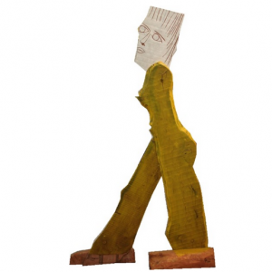 PASSER BY, Holz/bemalt, H. 165 cm, 2002
