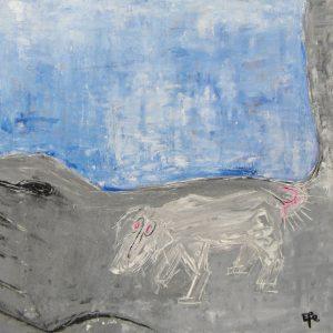 DOG TATTOO, 40 X 40, Acryl/L, 2003