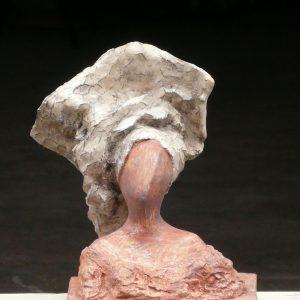 KORKOR, Gips/bemalt, H. ca. 20 cm, 2009