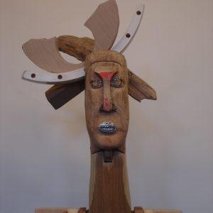 o.T., Holz/Nägel/bemalt, H. 73 cm, 2010