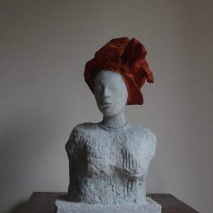 KORKOR  RHIV WE, Pappmaché/bemalt, H.31 cm, 2011