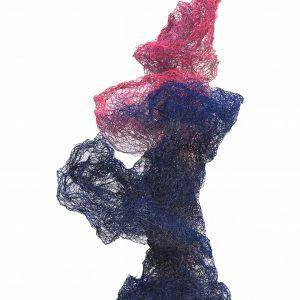 CORAMORPHIC, Maschendraht/lackiert, H. 140 cm, 2017